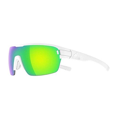- adidas Zonyk Aero S Shield Sunglasses, White Matte, 74 mm