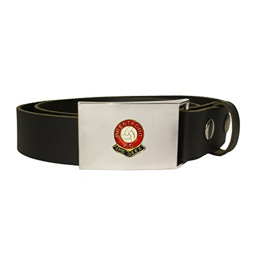 fan products of Brentford football club leather snap fit belt