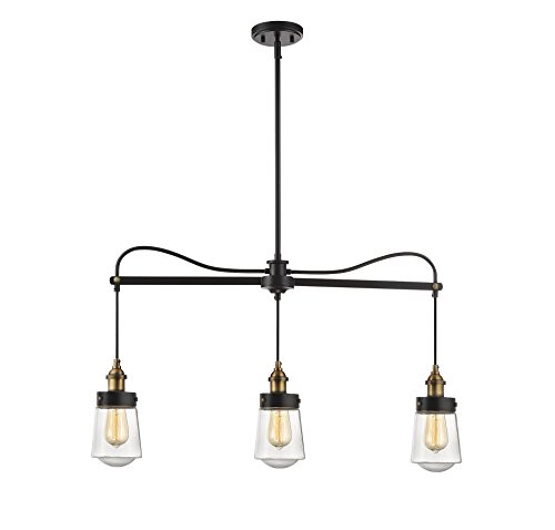 Savoy House Macauley 3-Light Trestle in Vintage Black w/Warm Brass 1-2062-3-51