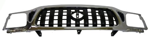 Car Grill Chrome 04 Part (Toyota Tacoma Truck 01-04 Chrome Front Grille Car - New W/o Sport)