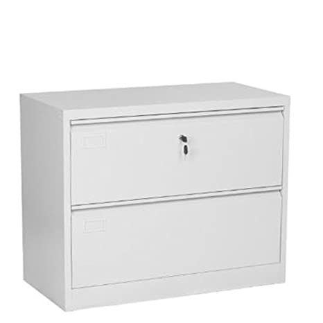 Desconocido Armario archivador Horizontal de Metal para Oficina. Muebles metálicos con 2 cajones para Archivo, tamaño 45 X 90 X 72 cm.