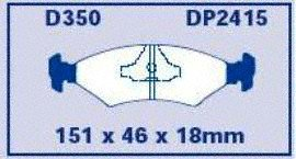EBC Brakes DP2415 Greenstuff 2000 Series Sport Brake Pad