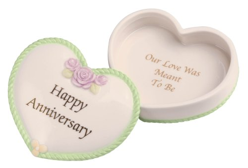 Precious Moments General Anniversary Heart Covered Box