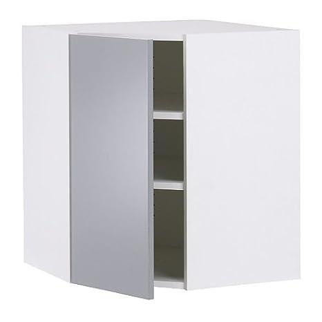 Ikea Faktum - Armadietto angolare, Abstrakt grigio: Amazon.it: Casa ...