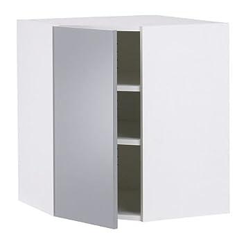 IKEA FAKTUM -Wandeckschrank Abstrakt grau: Amazon.de: Küche & Haushalt