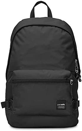 Pacsafe Slingsafe LX400 Anti-Theft Backpack with Detachable Pocket, Black