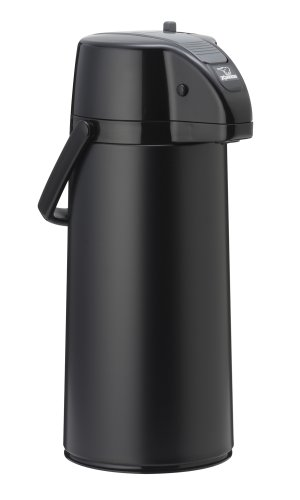 Zojirushi AASB-22BBE Premier Air Pot Beverage Dispenser, 2.2 Liters, Black, Made in Japan (Japan National Stainless)