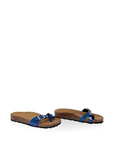 SUMMERY Sandalias planas  Azul EU 38