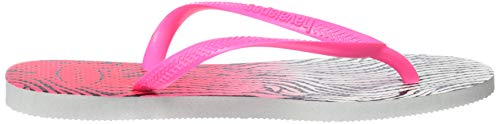 3581 shocking white H4103352 Slim Mehrfarbig Gold Animals Pink Havaianas Rose BqFXS