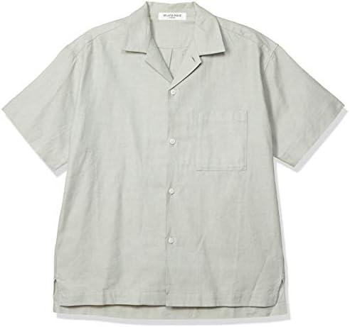 【HOMME】リネン混半袖シャツ PMFT201943 メンズ
