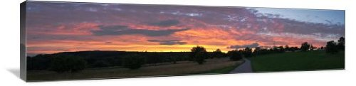 "Golden Sunset over the Valley 60"" x 15"" Gallery Wrapped Canvas Wall Art"
