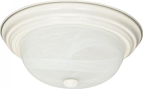 Nuvo Lighting 60/222 Two Light Flush Mount (Textured Light White Finish)