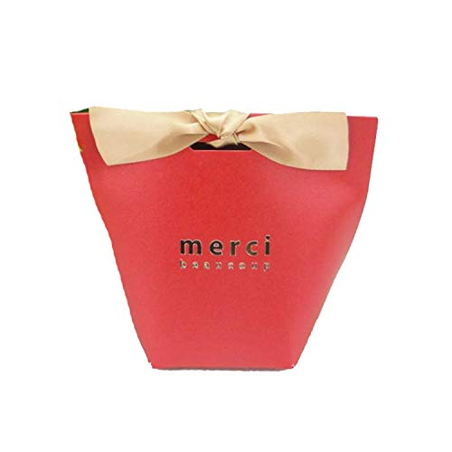 Merci Beaucoup White Black Color Paper Gift Boxes Cake Box Wedding Favor Candy Ribbon Red 30PCS