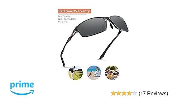 dbb251bb27 Amazon.com  Mens Sunglasses Polarized Sunglasses for Men Black Driving Sun  Glasses  Clothing
