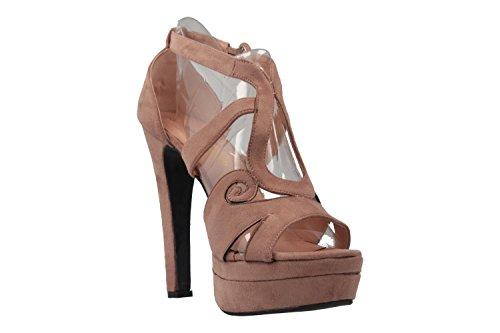 ANDRES MACHADO - Damen Sandaletten - Nude Schuhe in Übergrößen