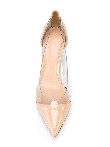 Party Kitten Schuhe Heel Mid Pumps Heels Transparent Hochzeit Rutsch EDEFS Beige Damenschuhe vwxqaa