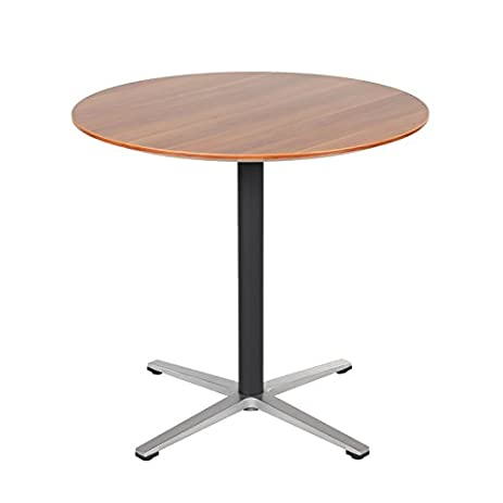 Ordinaire Sunon 31.5u0026quot; Small Round Pedestal Table Dining Table With Black X Base  Cocktail Pub Bistro