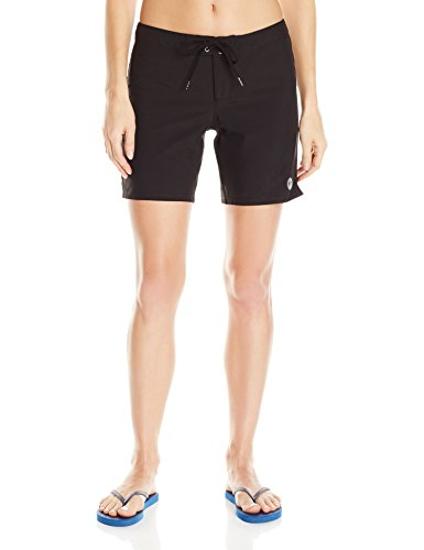 Roxy Women's to Dye 7 Inch Boardshort, True Black, L by Roxy