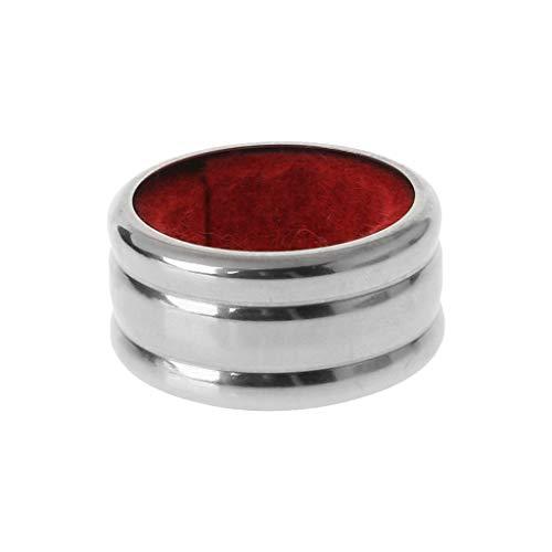 LANDUM Practical Stainless Steel Red Wine Bottle Drip Drop Proof Stop Ring Bar Tools-Red