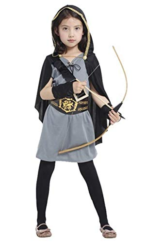 Mesodyn Girls Miss Robin Hood Costume Halloween Huntress Cosplay Outfit]()
