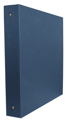 Aurora GB Elements Binder, 1 1/2 Inch Round Ring, 8 1/2 x 11 Inch Size, Navy, Linen Embossed, Eco-Friendly, Recyclable, Made in USA (AUA20315)