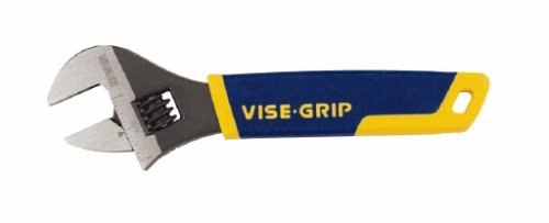 Irwin 2078606 Vise Grip 1-Inch Jaw Capacity 6-Inch Adjustable Wrench with Comfort Grip (Grip Adjustable Vise)