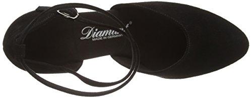 Diamant Diamant Damen Tanzschuhe 058-068-001 - Zapatos de baile - standard & latino para mujer Negro (Negro)