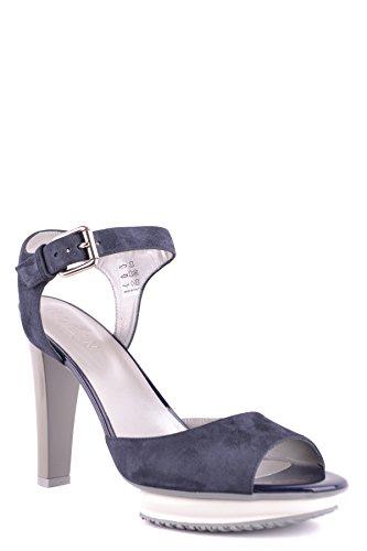 Hogan Ladies Mcbi148504o Sandali In Pelle Scamosciata Blu