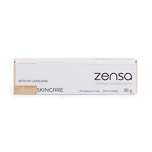 (Zensa Numbing Cream 5% Lidocaine - Fast Acting Topical Anesthetic. Max Pain Relief. Tattoos/Piercings/Microblading/Permanent Makeup/Microneedling/Injections/Waxing/Electrolysis/Non-Invasive Procedures)