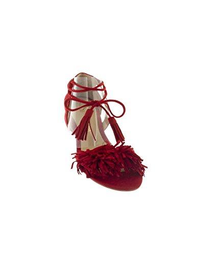 Sandalia Fiesta Altraofficina Flecos Roja Rojo