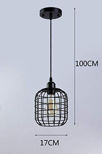 BOSSLV Vintage Pendent Lamp Creative Industry Hanging Lamp Metal Hollow Lampshades Indoor Ceiling Decorative Lighting Chandelier E27 Pendulum Hanging Light Dining Hall Bedroom