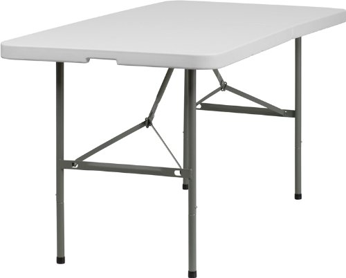 SuperDiscountMall Premium Quality White Plastic Folding Table DAD-YCZ-152Z-GG by SuperDiscountMall