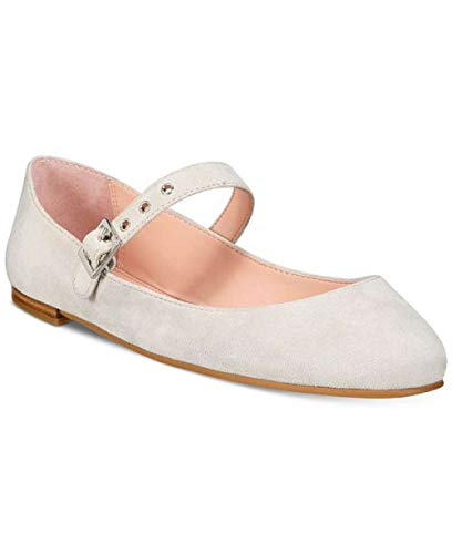 Avec Les Filles Womens Renee Suede Almond Toe Ankle Strap Mary, Beige, Size 6.0