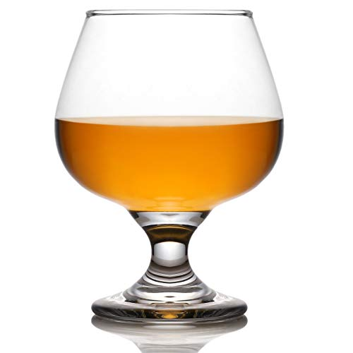 Juvale Cognac Glasses (Set of 4) - 13 Ounce Brandy Snifters for Bourbon and Whiskey