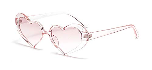 Cute Pink Heart Sunglasses Women Retro Glasses Frame,Pink Pink (Sonnenbrille Polycarbonat)