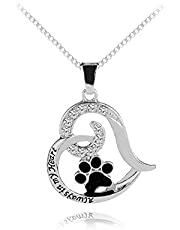 Pet Dog Cat Memorial Gifts Necklace Sympathy Gifts for Loss of Dog Cat Pet Memorial Sympathy Necklace Gifts for Christmas Birthday