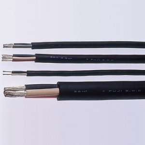 富士電線 ★切売販売★ 2種EPゴム絶縁クロロプレンゴムキャブタイヤケーブル 38m㎡ 1心 10m単位切り売り 2PNCT38SQ×1C   B00J920EAG