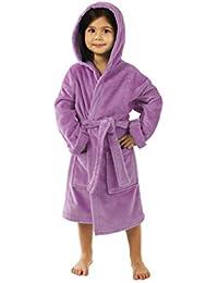 Terry Velour Hooded Kids Bathrobe