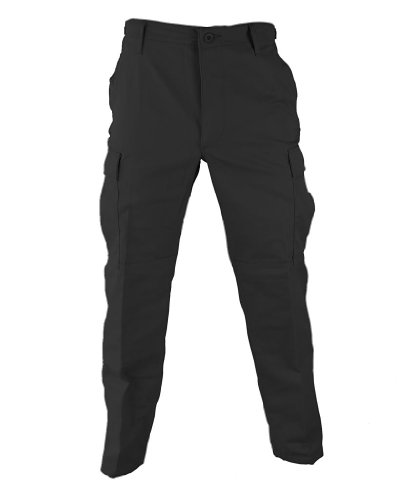 Mens Tactical Pant, Black, Size S Short