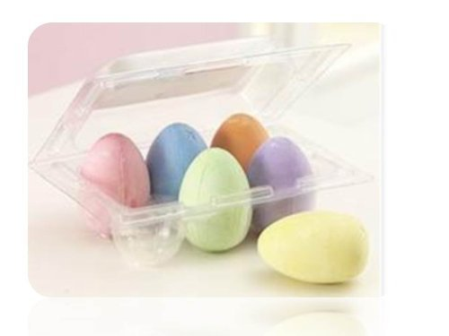 Egg-Shaped Easter Chalk by Oriental Trading Company