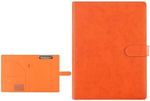 WZJN Konferenzordner Leder Resume-Aktentasche Business School Büro-Sitzungs-Interview/Legal Document Organizer und Visitenkartenhalter Writing Board 320x248mm (Color : Orange, Size : 320x248mm)