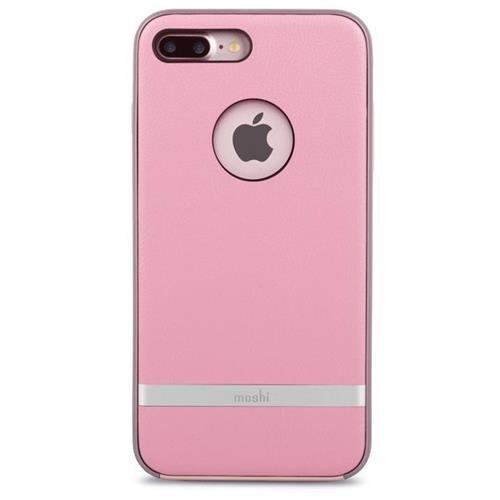 Melrose Case Pink Leather - Moshi Napa Vegan Leather Case for iPhone 7 Plus 8 Plus, Melrose Pink