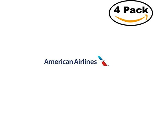 american airlines new logo 4 Stickers 4x4 Inches Car Bumper Window Sticker Decal