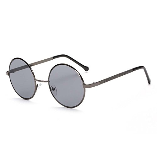 LOMOL Fashion Retro Classic UV Protection Round Plane Colorful Lens Driving - Clip Magnetic Sunglass Ons Replacements