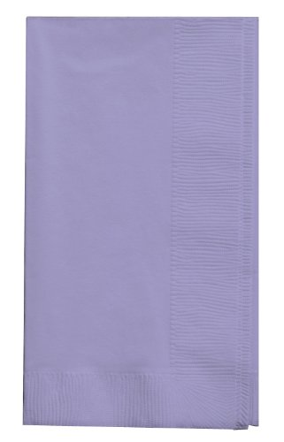 Creative Converting Touch of Color 2-Ply 50 Count Paper Dinner Napkins, Luscious Lavender ()