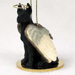 Great Dane Angel Dog Ornament - Black