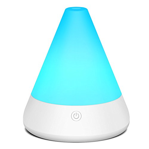 InnoGear 180ml Aromatherapy Essential Oil Diffuser Whisper Quiet Cool Mist Humidifier Ultrasonic Diffusers with 7 Color LED Light and Waterless Auto Shut-off for Office Home Study Yoga Spa Kids