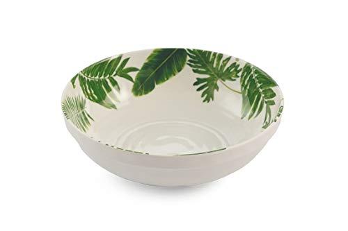 Villa D'Este Home Tivoli 2421174 Jungle Salad Bowl, Melamine, Green (Villa Deste Bowl)
