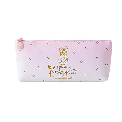 Clearance Sale!DEESEE(TM)Pink Pineapple Pencil Case Cosmetic Bag Makeup Pouch Pencils Box (A)]()