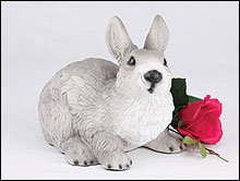 Ever My Pet Companion and Bunny Rabbit Pet Urn Grey and White